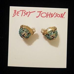 Betsey Johnson snorkel bear earrings nwt